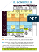 OACpool Schedule as of Aug 2014