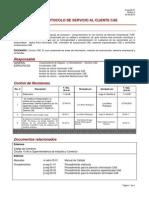 Protocolo de Servicio Al Cliente.