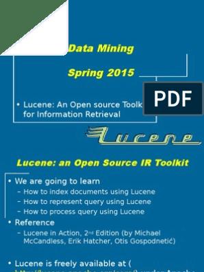 Tutorial: Lucene - Toolkit for Information Retrieval