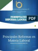 PRESENTACIÓN REFORMAS LFT México 2012
