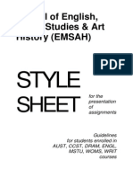 EMSAH Style Guide