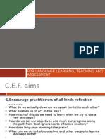 Common European Framework. Ch.1