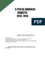 Codul Etic Al Cadrului Didactic