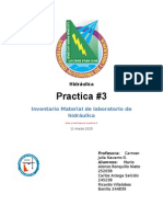 Hidráulica Practica 3 Inventario
