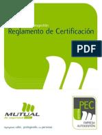 Reglamento Certificacion PEC Autogestion