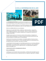 Consecuencias de La Contaminacion en El Aire