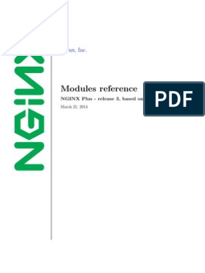 Nginx Modules Reference r3 | Transport Layer Security