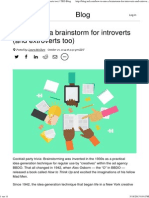 How to Run a Brainstorm for Introverts (and Extroverts Too) _ TED Blog