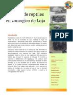 Reptiles Del Zoológico de Loja
