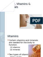 W10 Water, Vitamins & Minerals ppt