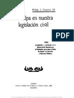 La Culpa en Nuestra Legislación Civil