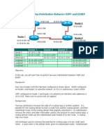 OSPF EIGRP Redistribution
