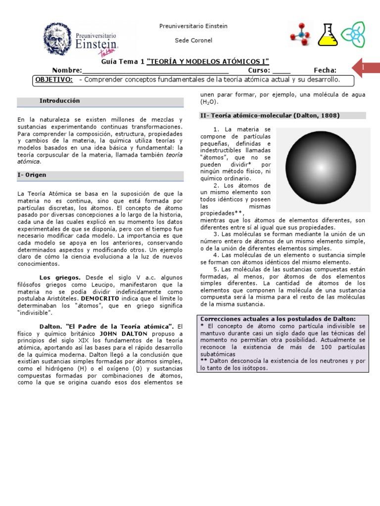 Tema 1 1 Núcleo Atómico Isótopo