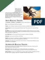 Pathfinder Aven Race