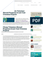 Affordable Volunteer Abroad