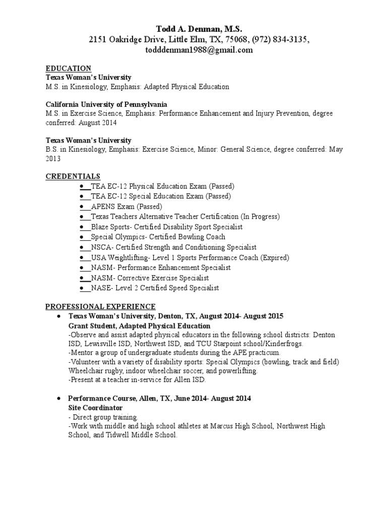 Resume 2 Physical Education Leisure