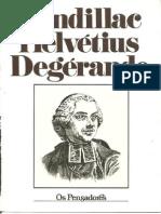 Condillac/ Helvétius / Degerando - Coleção Os Pensadores