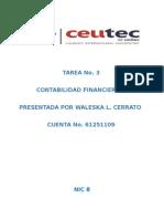 Tarea No. 3 Ejercicio NIC8
