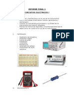 INFORME FINAL 1 Circuitos Electricos