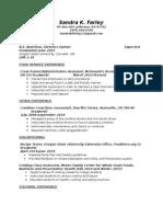 dietetics resume