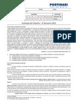 avaliaofilosofia1obimestre1oano2012-120228192508-phpapp01