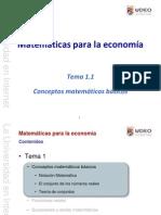 Matemáticas para la economía - Conceptos Matemáticos Básicos