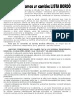 Para Las Próximas Elecciones de UDocBA San Martín