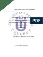 Informe Sobre La Situacion Social Limeña