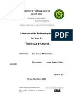 Informe Turbina Francis JRZ