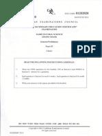 CSEC Agricultural Science (DA) Paper 2014