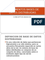 Fundamentos Bases de Datos Distribuidas