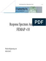 Predictive Engineering Response Spectrum Analysis 2008