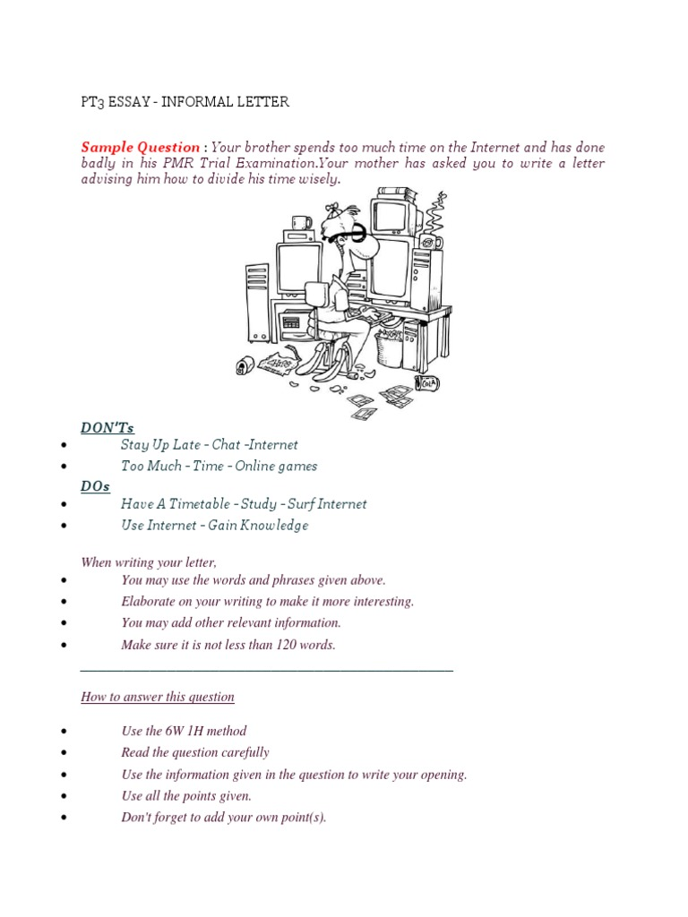 informal essay spm Informal letter essay spm letter formats for informal letter in the malaysian school system: students are taught to: include the writer's address and date in the.