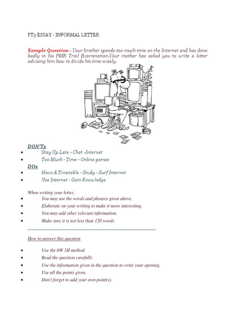 Pt3 essay informal letter internet spiritdancerdesigns Image collections