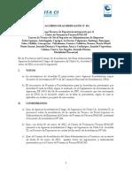 Acuerdo de Acreditación Acredita CI N° 191
