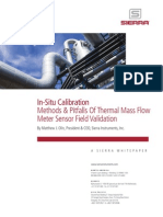 In-situ Calibration of Thermal Mass Flowmeters Sierra Instruments