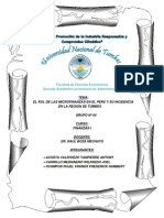 El Rol de Las Microfinanzas en El Peru y Su Incidencia en La Region Tumbes 2014
