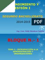 Emprendimiento y Gestión 1 Bloque 2014 2015