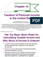 Chapter 14- TAXATION OF PERSONAL INCOME IN THE UNITED STATES