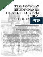 Representacion y Reflexividad en La Auto EtnografIa CrItica