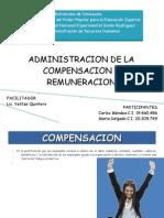 Administracion de La Compensacion y Remuneracion de Sueldos y Salarios