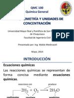 3 Qmc 100 Estequiometría y Unidades de Concentración