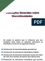 2.1 Consideraciones Discontinuidades
