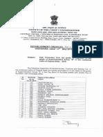 Promotion Order of Inspectors