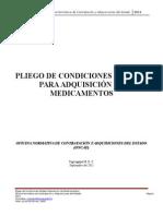 Pliego de Condiciones Modelos Para La Adquisición de Medicamentos ONCAE 2011