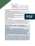 Motores Con Sistema VVT
