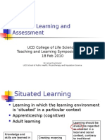 situated learning & assessment