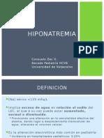 Hiponatremia en pediatría