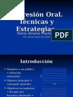 Expresion Oral Tecnicas y Estrategias