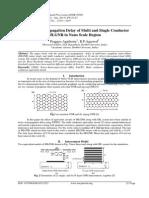 Simulation of Propagation Delay of Multi and Single Conductor MLGNR in Nano Scale Region